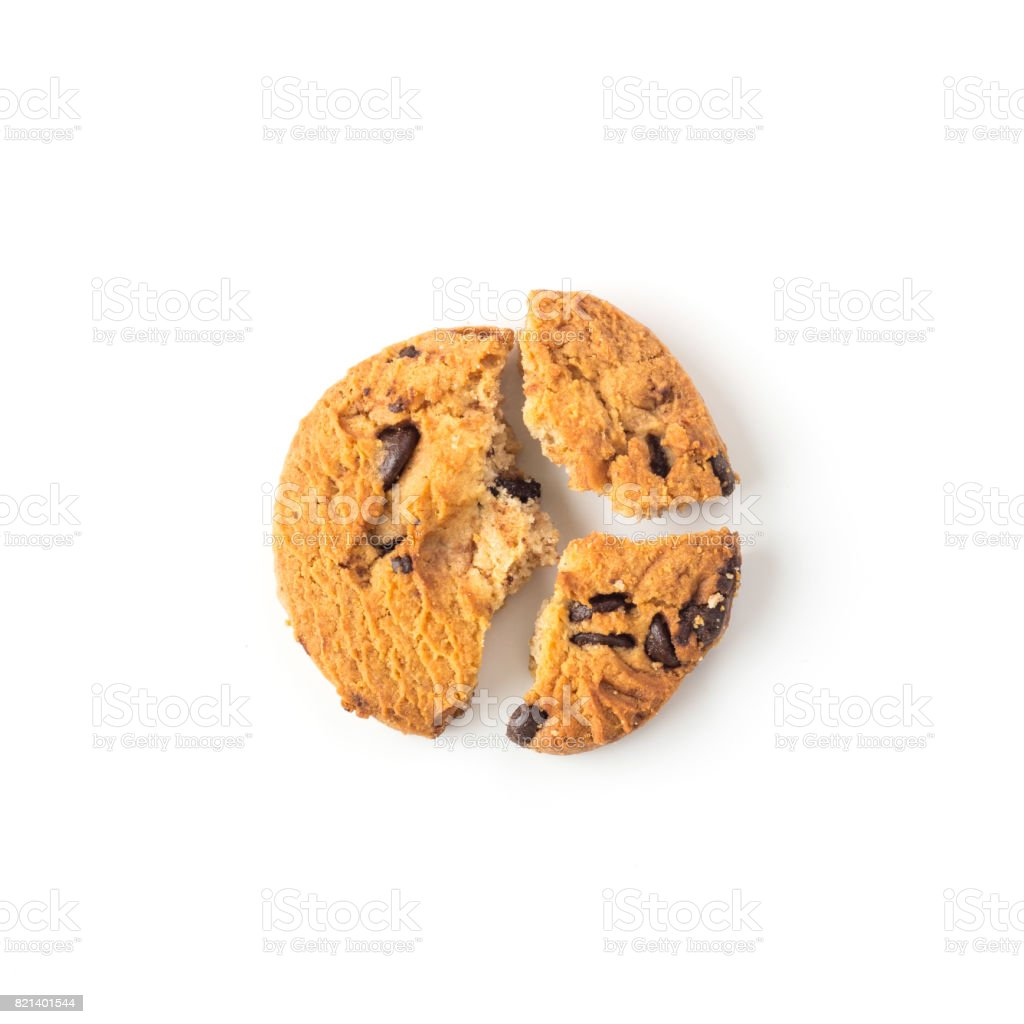 homemade cookies on white in top view stock photo