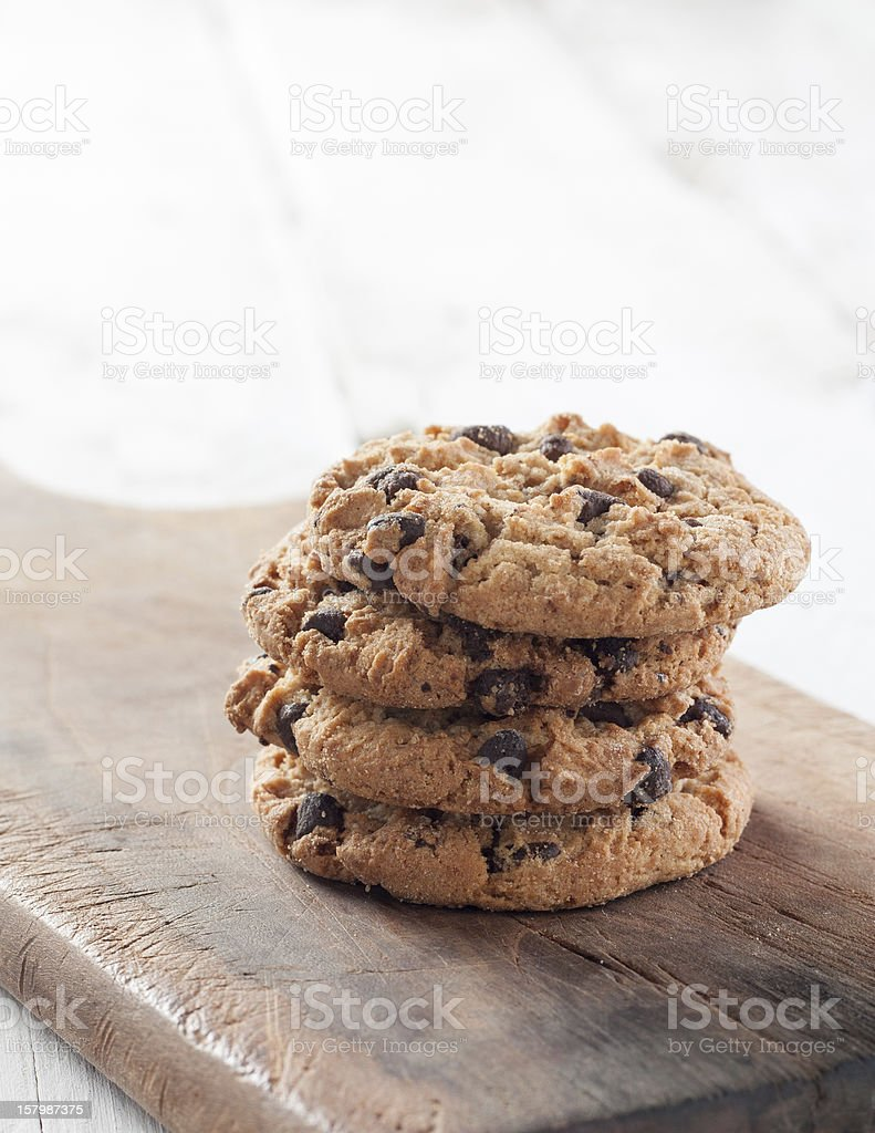 Homemade Cookies on wood stock photo