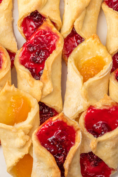 Homemade cookies with jam. A large clan stock photo