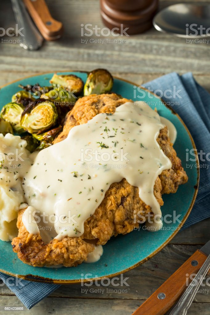 Homemade Country Fried Steak royalty-free stock photo