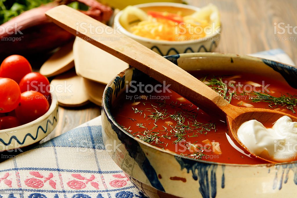 Homemade Country Soup royalty-free stock photo