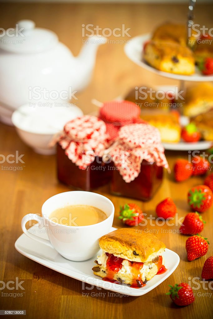 Homemade Cream Tea stock photo