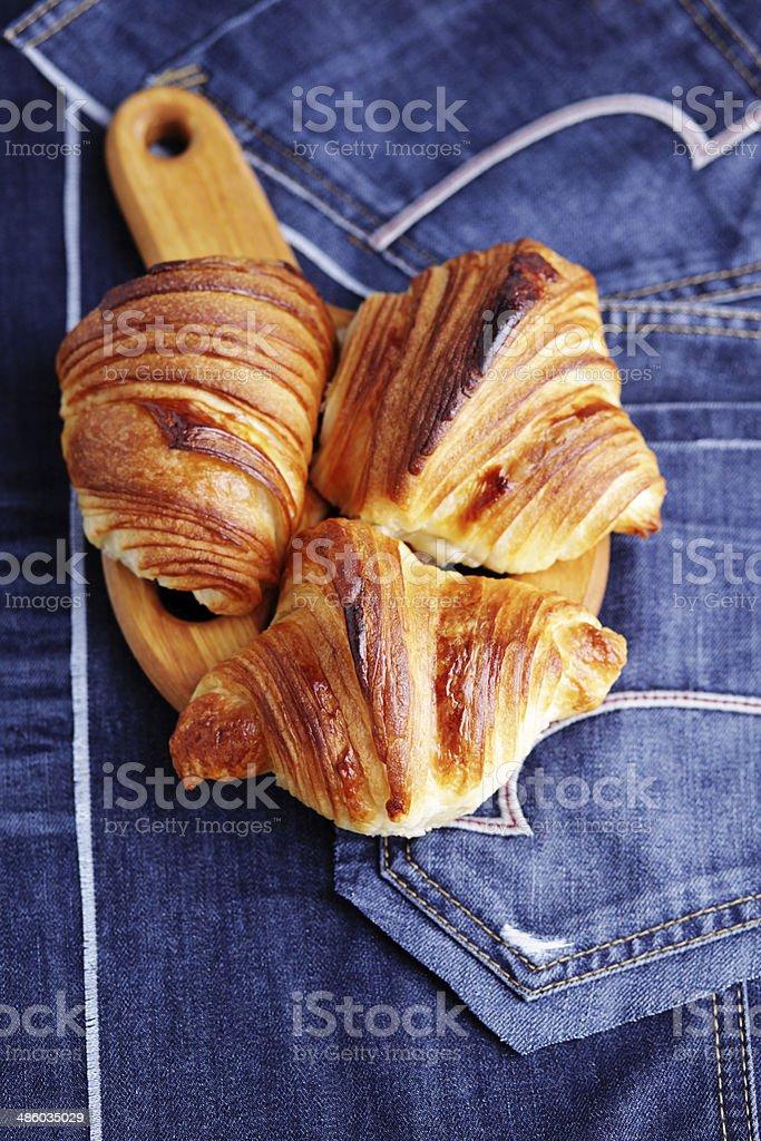 homemade croissant royalty-free stock photo