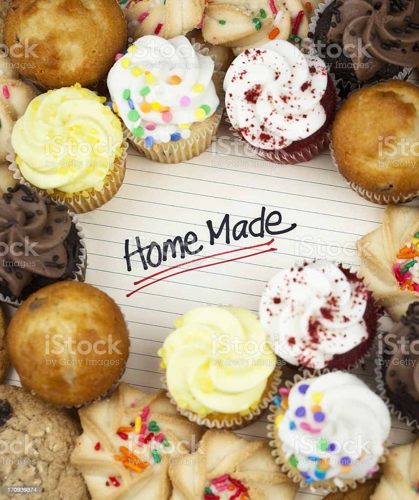 Homemade Cupcakes and Cookies royalty-free stock photo