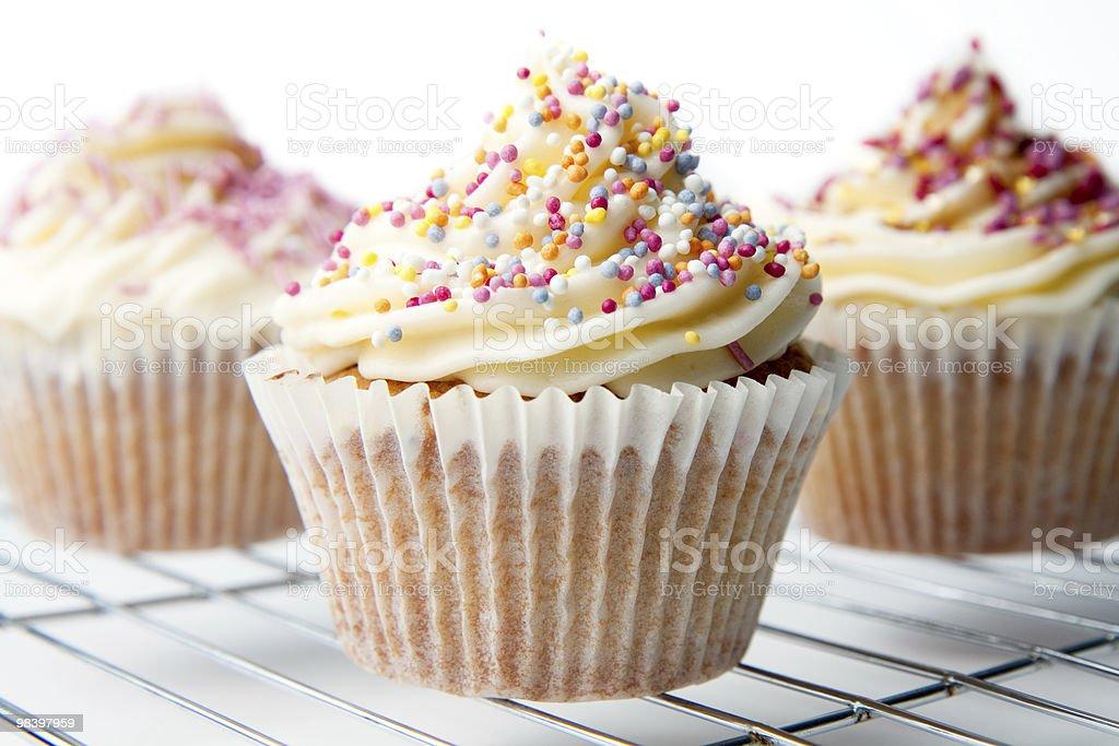 Homemade Cupcakes Closeup royalty-free stock photo