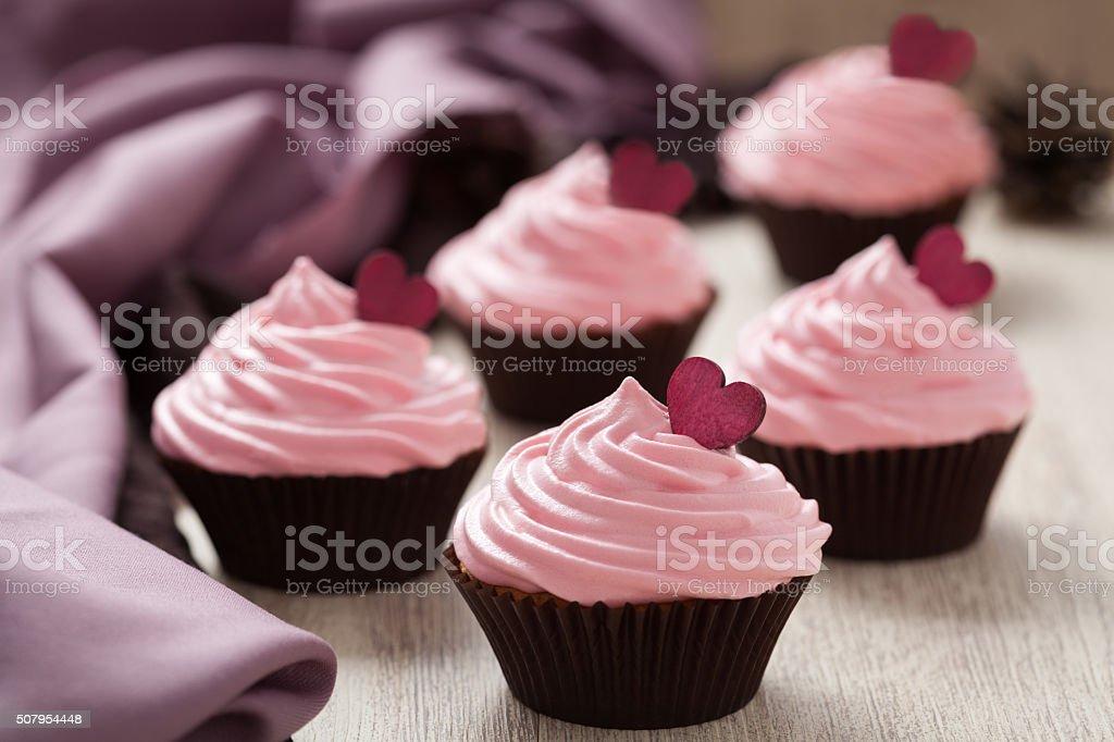 Hausgemachten Stippkuchen Rosa Traditionellen Valentinstag Suss