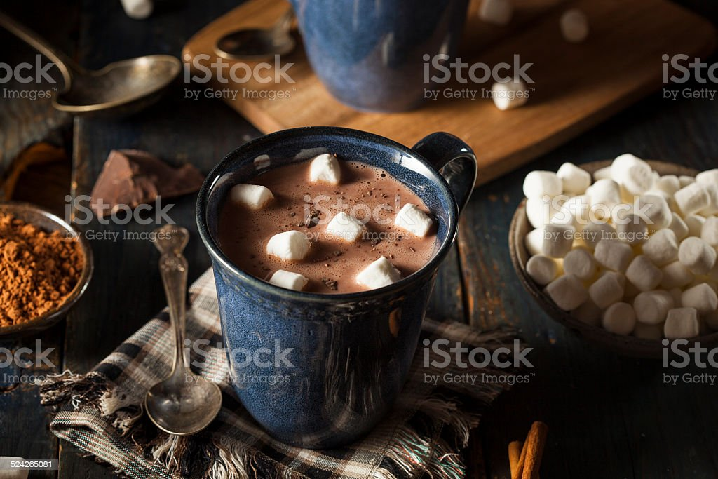 Homemade Dark Hot Chocolate stock photo