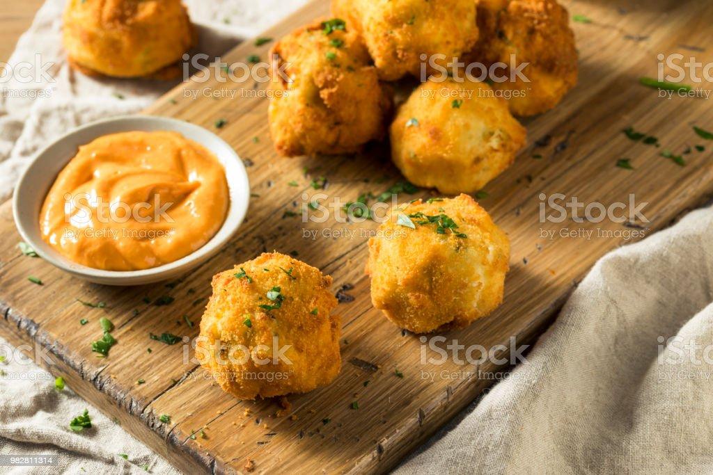 Hausgemachte frittierte Kroketten – Foto