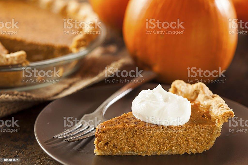 Homemade Delicious Pumpkin Pie stock photo