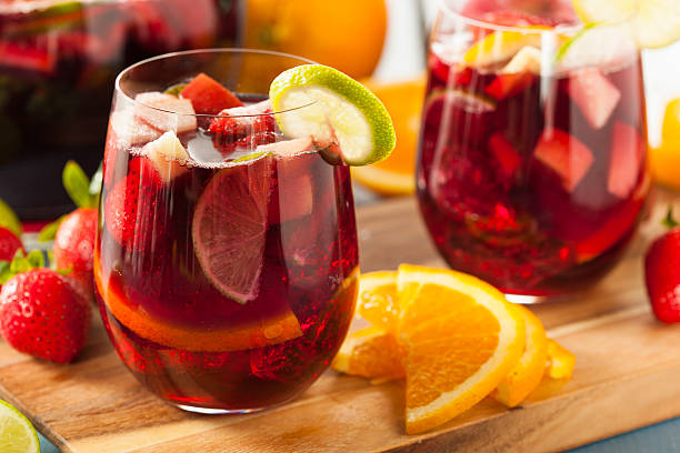 Homemade Delicious Red Sangria stock photo