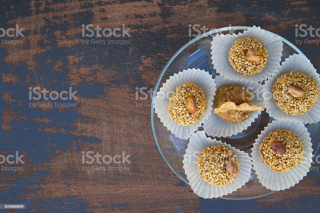 Homemade diet truffles foto royalty-free