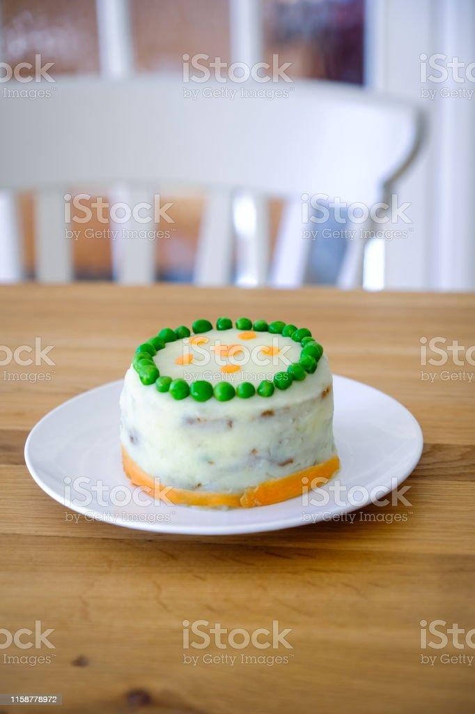Astounding Homemade Dog Birthday Cake Stock Photo Download Image Now Istock Funny Birthday Cards Online Alyptdamsfinfo