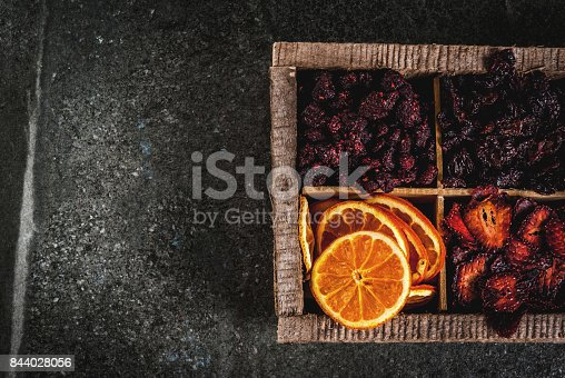 istock Homemade dried berries and fruits 844028056
