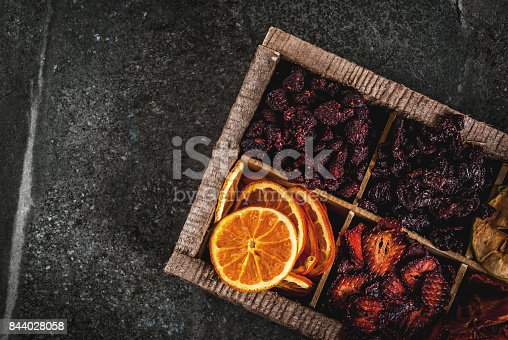 istock Homemade dried berries and fruits 844028058