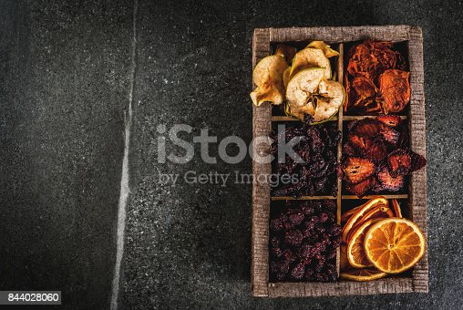 istock Homemade dried berries and fruits 844028060