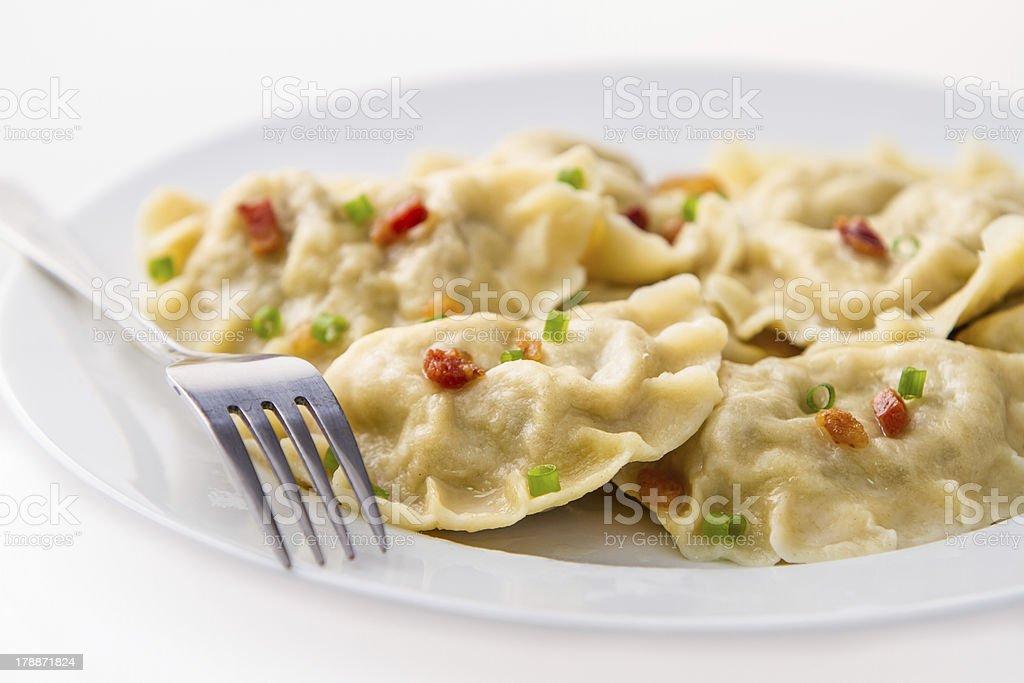 Homemade dumplings royalty-free stock photo