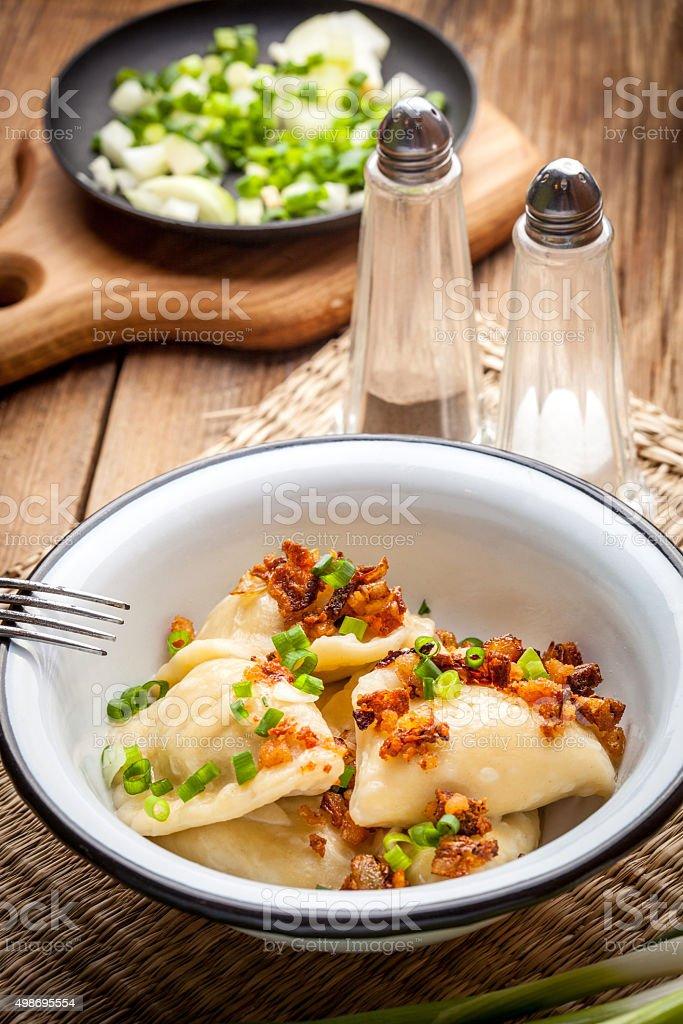 Homemade dumplings. stock photo