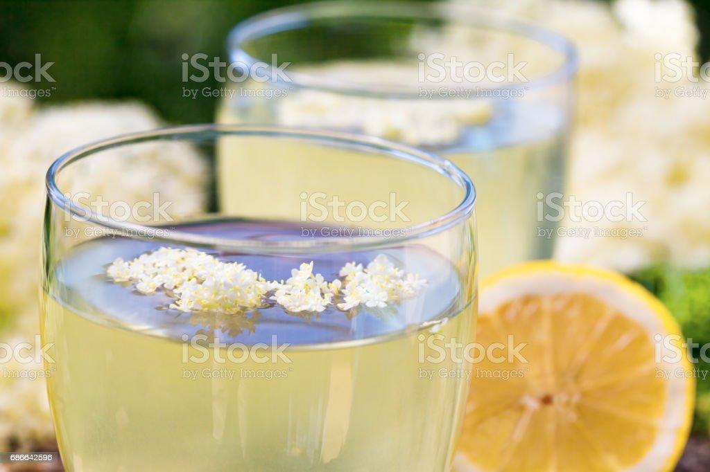 Homemade elderberry syrup juice. royalty-free stock photo
