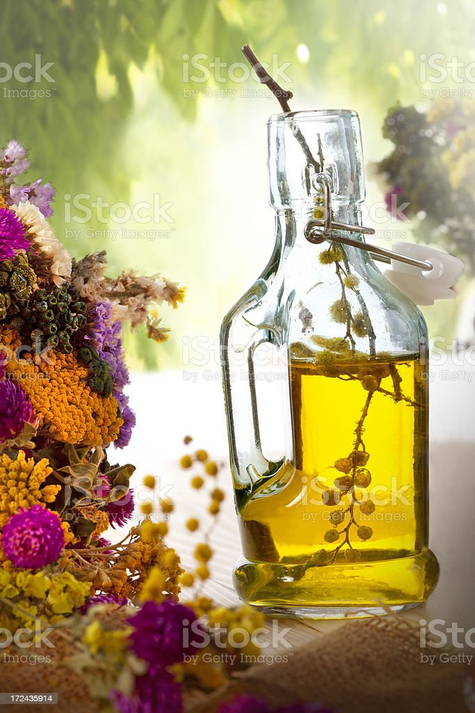 Homemade flower essence royalty-free stock photo