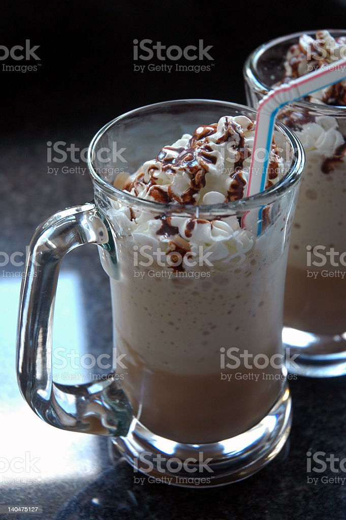 Homemade frappuccino royalty-free stock photo