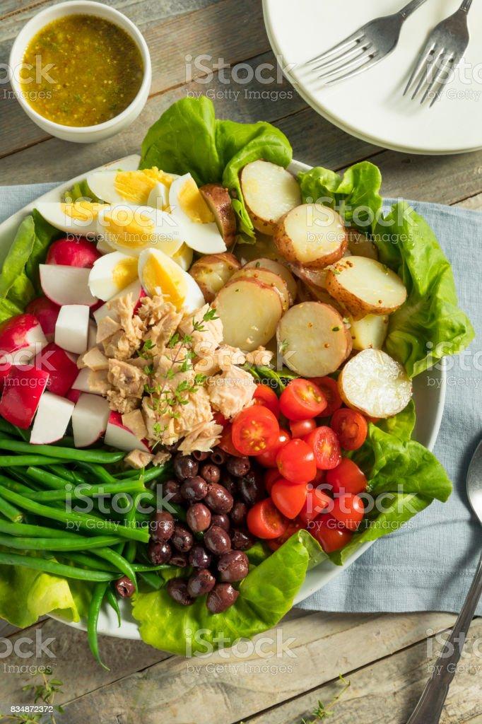 Homemade French Salad Nicoise stock photo