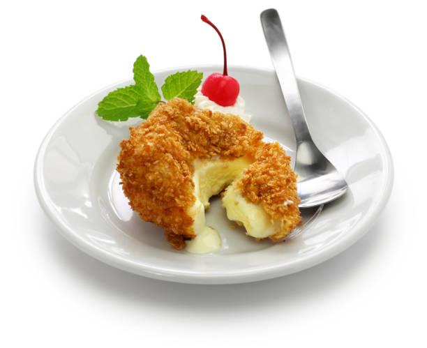 homemade fried ice cream - tempura imagens e fotografias de stock