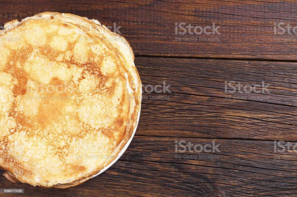 Homemade fried pancake stock photo