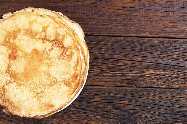frittella fritta fatti in casa - pancake foto e immagini stock
