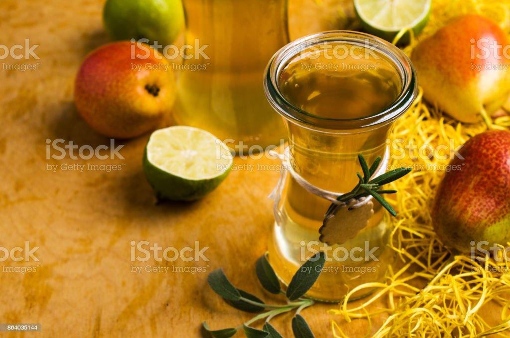 Homemade fruit vinegar stock photo