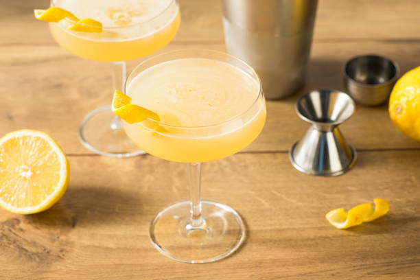Homemade Gin Corpse Reviver Number 2 stock photo