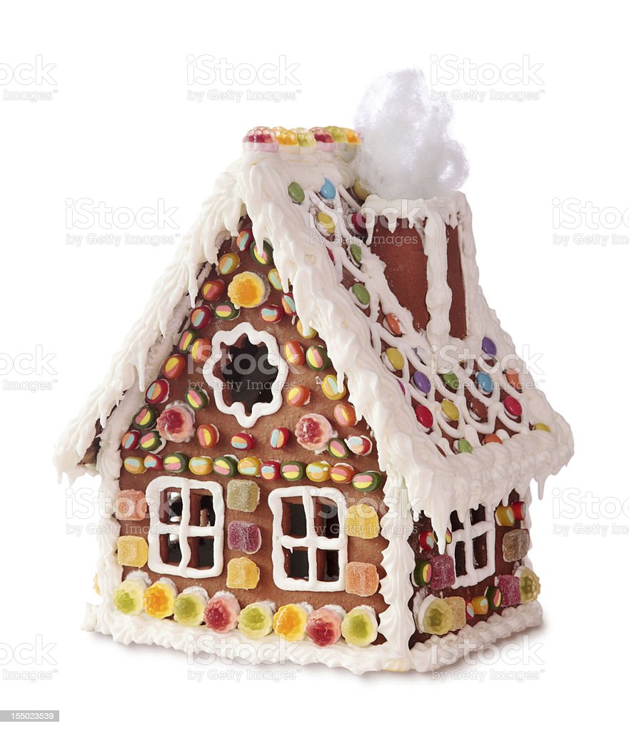 Homemade gingerbread house royalty-free stock photo