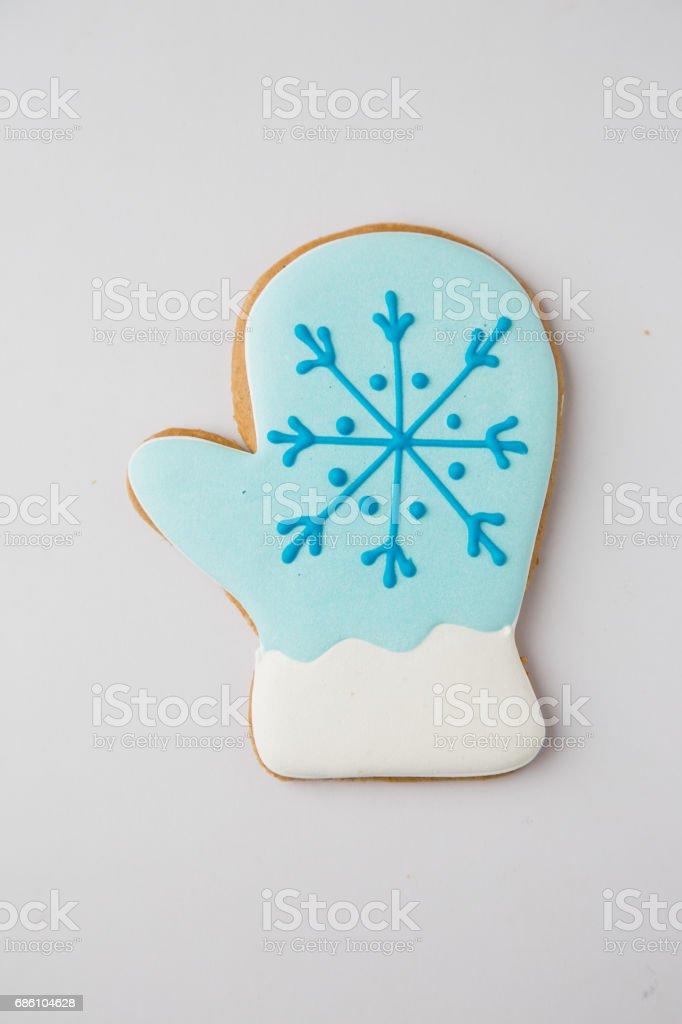Homemade Gingerbread House stock photo