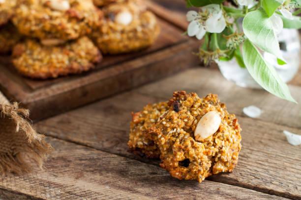 Homemade gluten free cookies stock photo