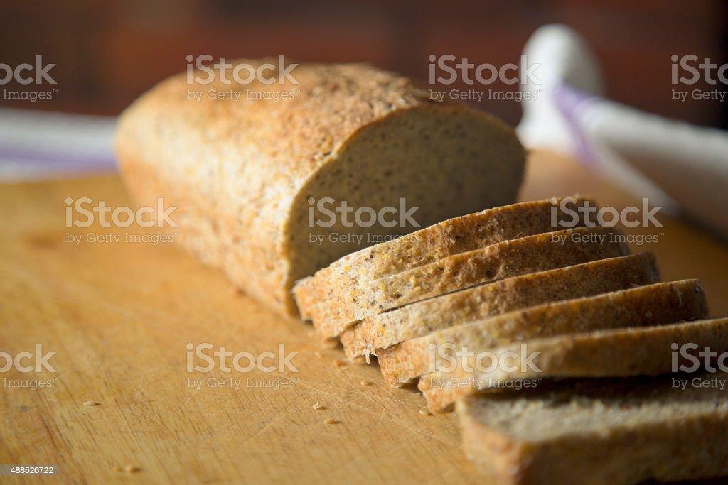 Homemade gluten free corn bread. stock photo