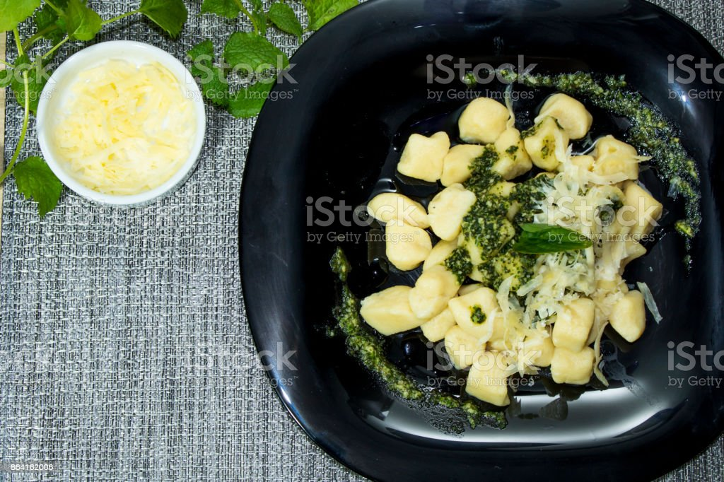 Homemade gnocchi royalty-free stock photo