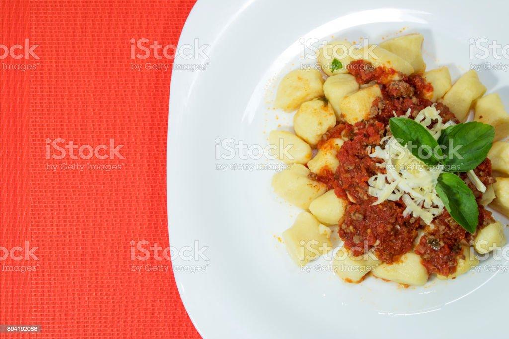 Homemade gnocchi royalty-free stock photo