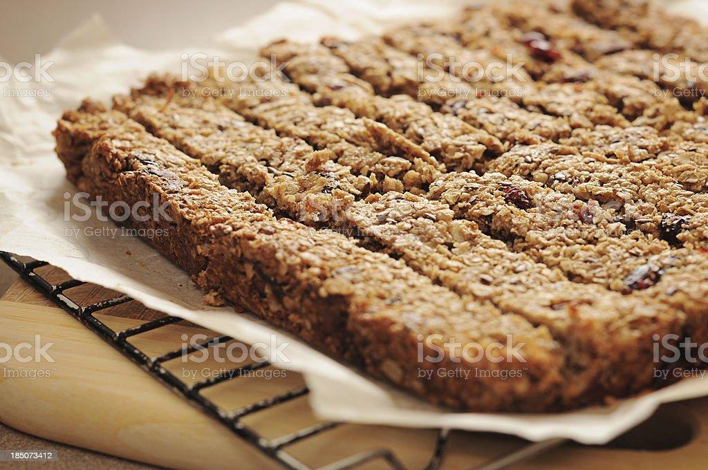 Homemade granola bars royalty-free stock photo