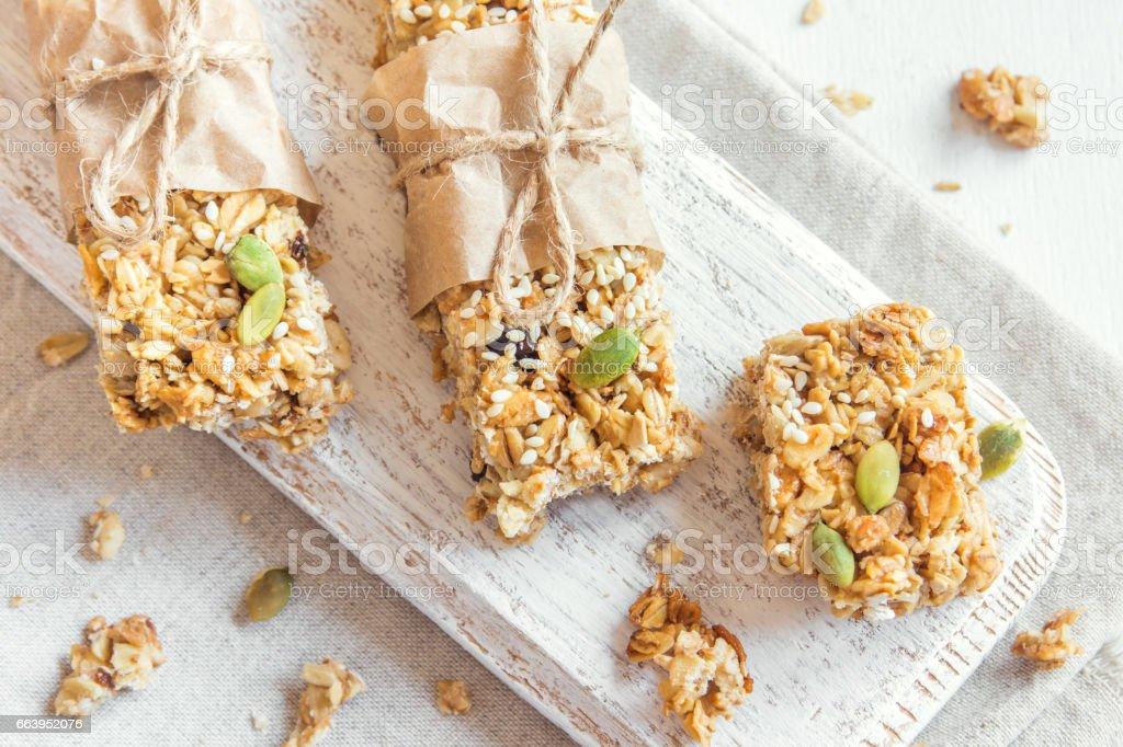 barras de granola caseira - foto de acervo