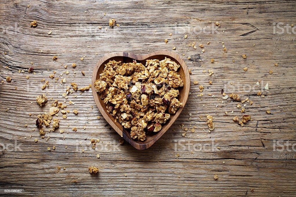 Homemade granola stock photo