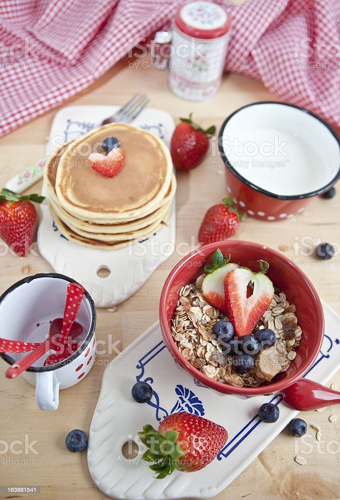 Homemade granola with fresh berries royalty-free stock photo