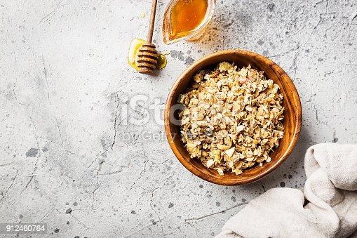 istock Homemade Granola with honey 912460764