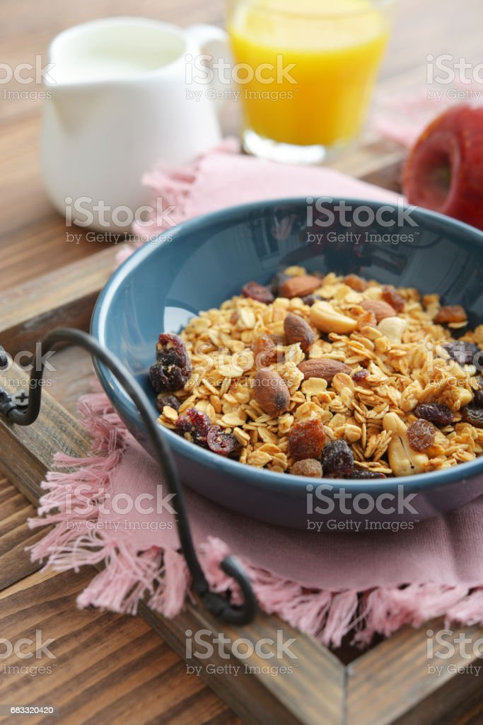 Homemade granola with raisins foto stock royalty-free