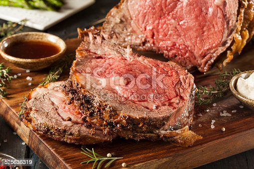 Homemade Grass Fed Prime Rib Roast Stock Photo & More ...