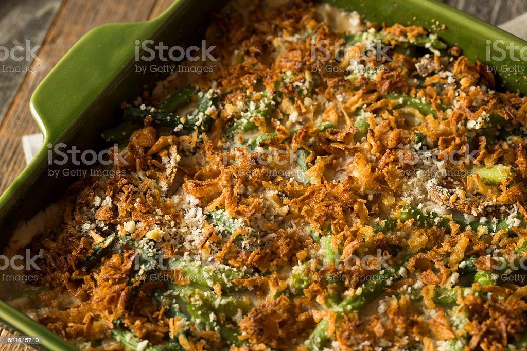 Homemade Green Bean Casserole stock photo