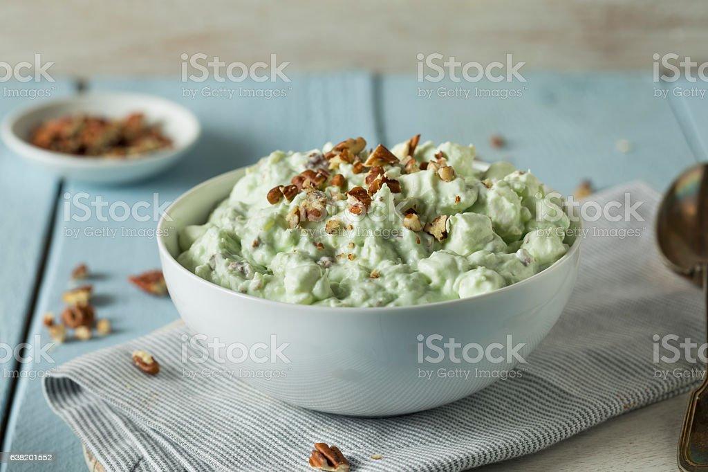 Homemade Green Pistachio Fluff Dessert – zdjęcie