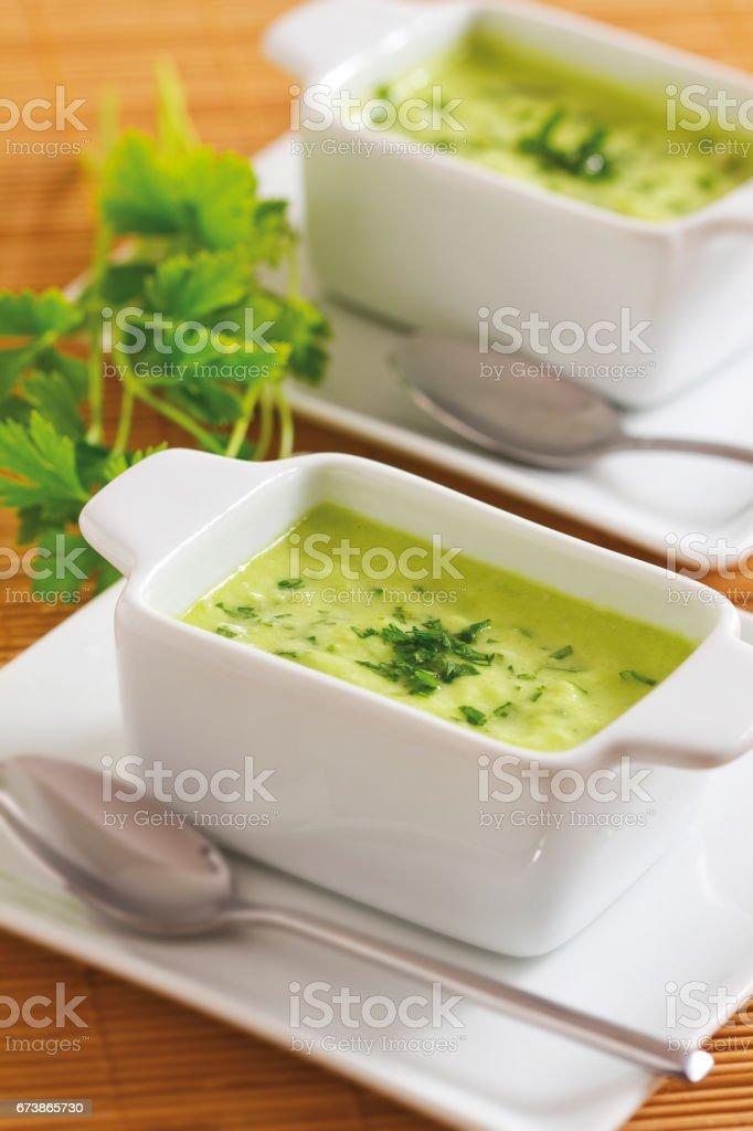 Ev yapımı yeşil sos royalty-free stock photo