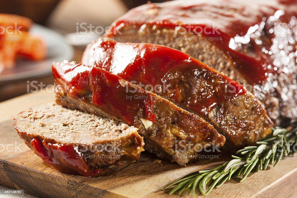Hausgemachte Boden Rindfleisch Hackbraten - Lizenzfrei Bratengericht Stock-Foto