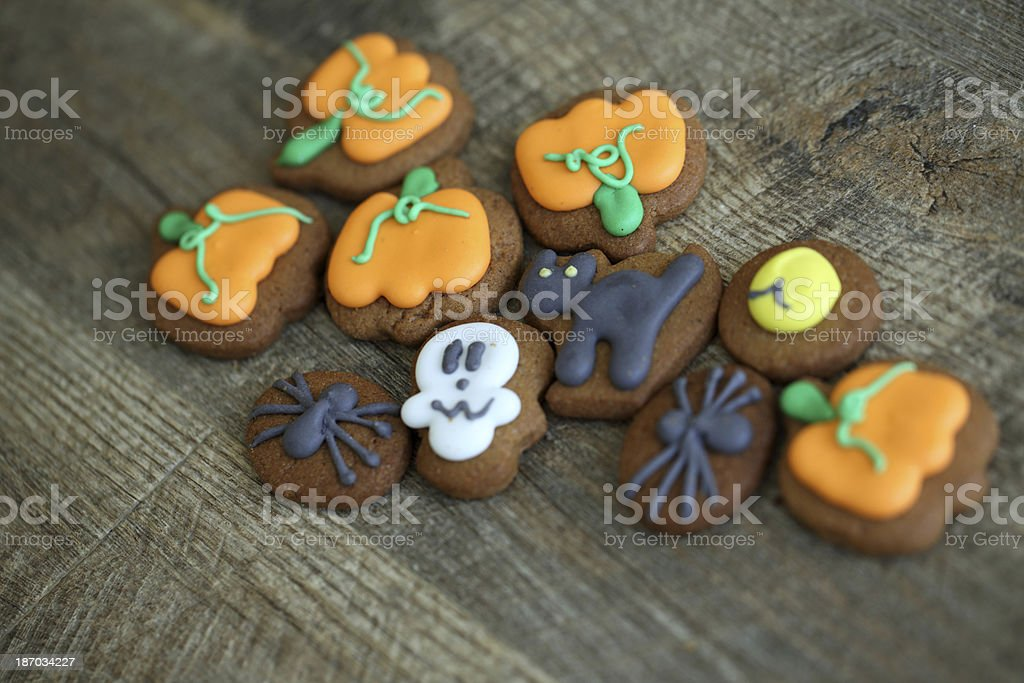 Homemade Halloween cookies royalty-free stock photo