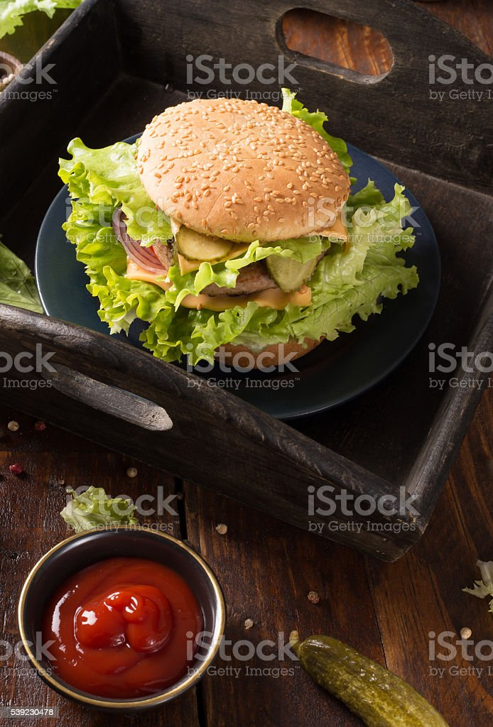 hamburger Hambúrguer caseiros foto royalty-free