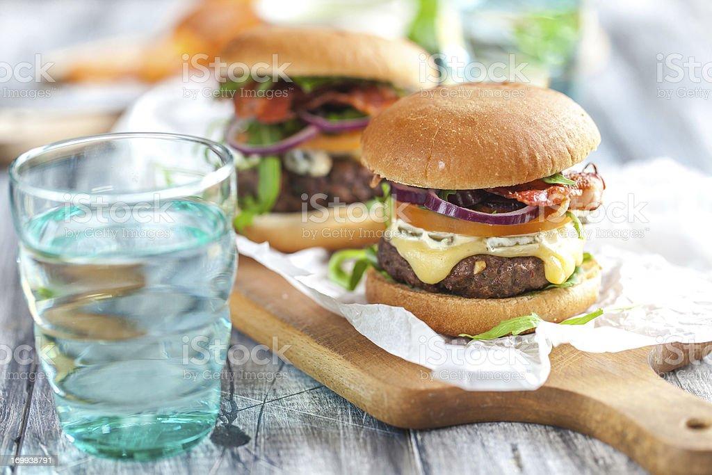 Hausgemachten Hamburgern – Foto